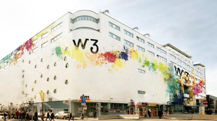 Fassadengestaltung für W3
