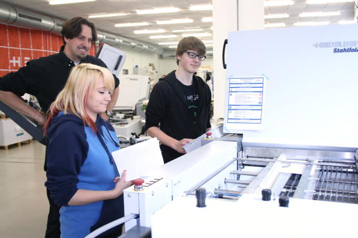 Buchbinderei - Falzmaschine