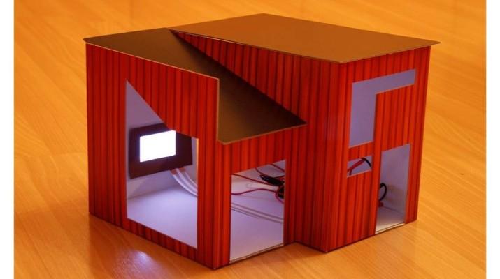 """Modellhaus """"gedrucke Elektronik"""""""