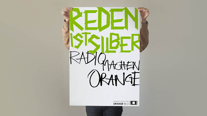 Kampagne für Radio Orange