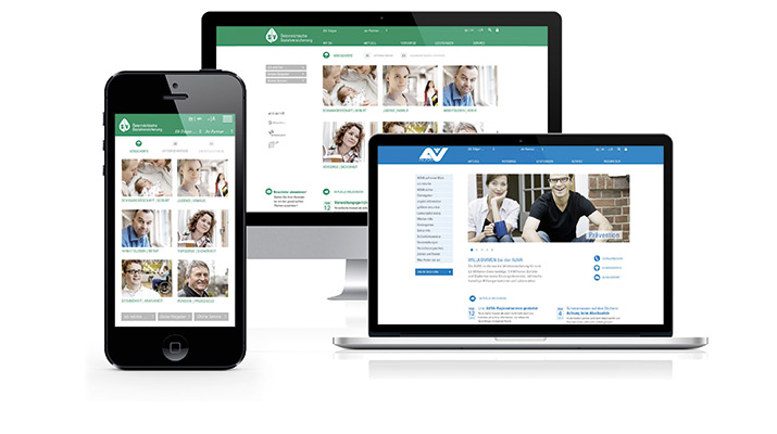 Website für den Hauptverband der SV